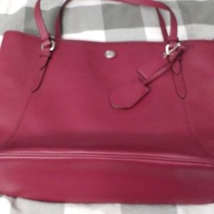 Coach large tote handbag